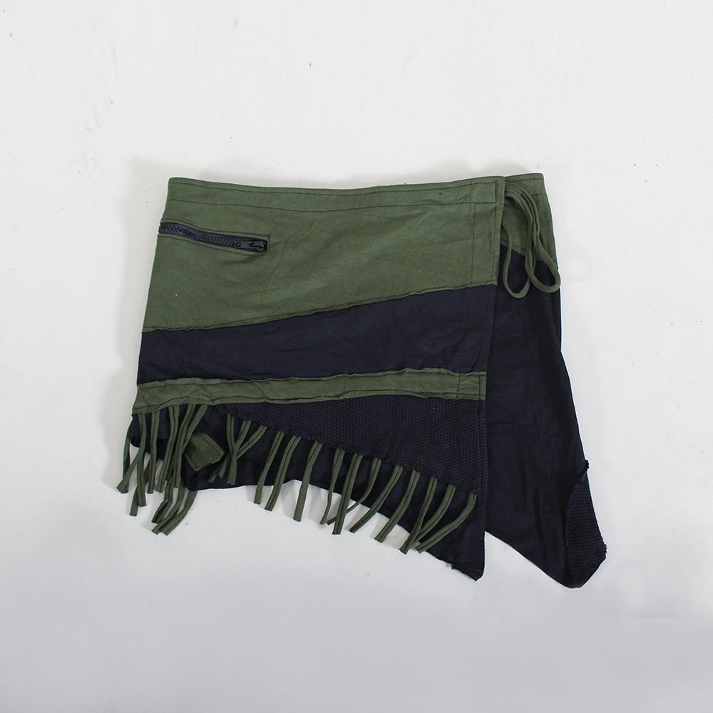 """Jupe \""""Azhar\"""", Noir et vert kaki"""