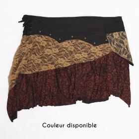"""Jupe """"Chimey"""", Noir Marron et Beige"""