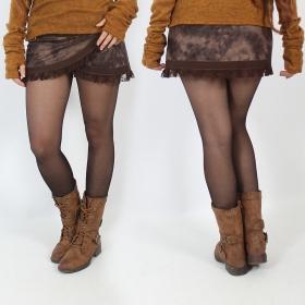 "Jupe Luna \""Funky wrap\"", Faux cuir marron 2"