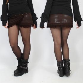 "Jupe Luna \""Funky wrap\"", Faux cuir marron"