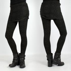 "Legging long Psylo \\\""Isis\\\"", Noir Kaki"