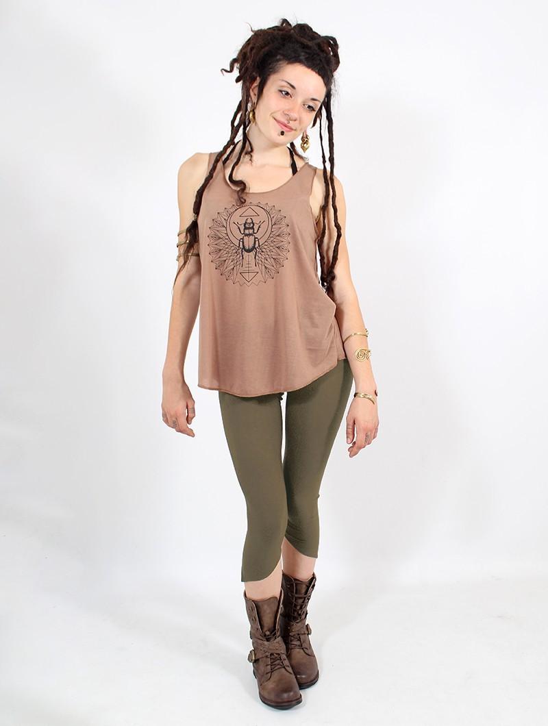 "Legging pointu \""Shayäa\"", Vert kaki"