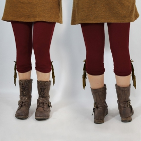 "Legging Yggdrazil \\\""Li-Zö\\\"", Bordeaux dentelle marron"