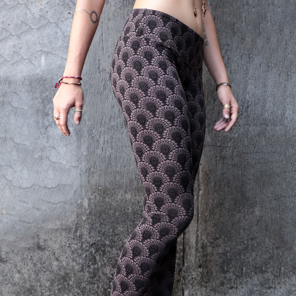 "Leggings ""Hatha Drop\"", Marron"