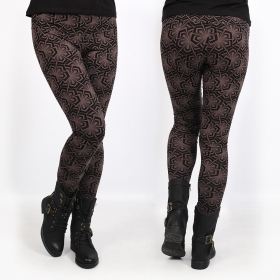 "Leggings ""Hatha Samouraï\"", Marron"