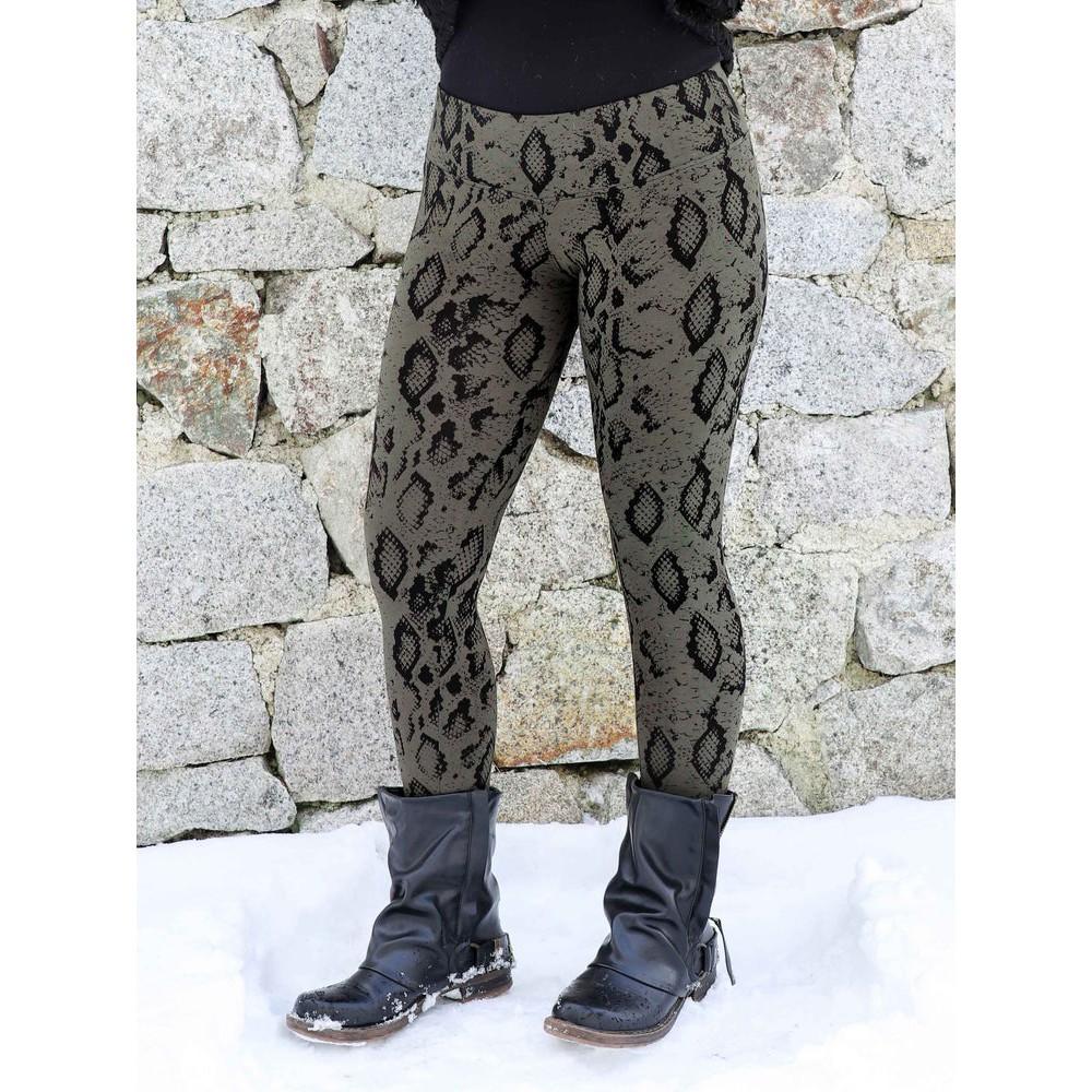 """Leggings \""""Hatha Snake\"""", Vert kaki"""
