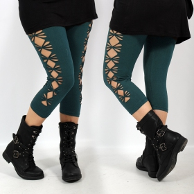 "Leggings ""Shinta\"", Bleu pétrole"