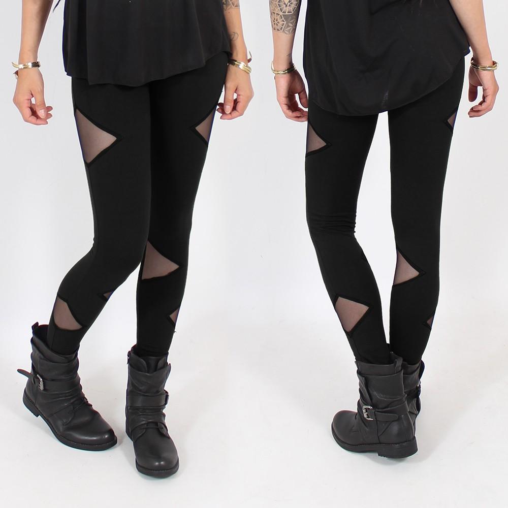 """Leggings \""""Triangle\"""", Noir"""