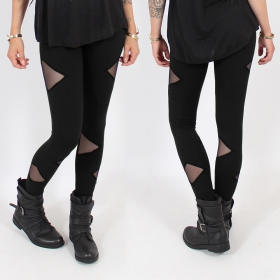 "Leggings ""Triangle\"", Noir"