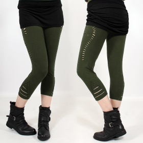 "Leggings 3/4 ""Niram\"", Kaki"