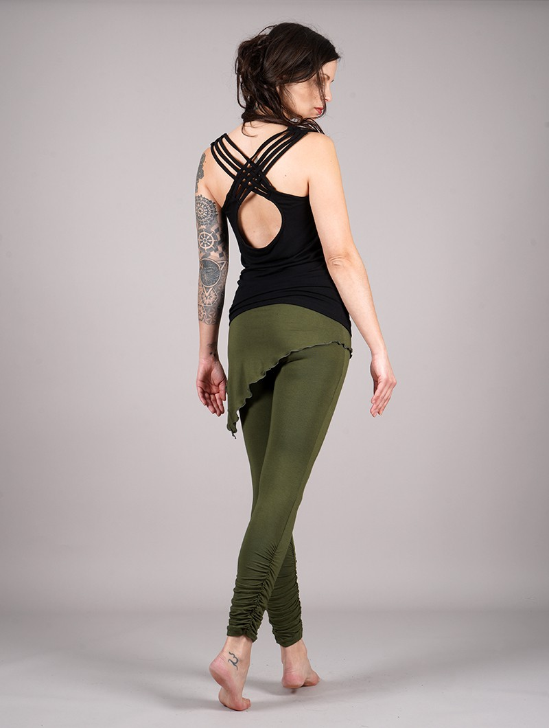 """Leggings jupe \""""Seiji\"""", Vert kaki"""