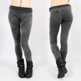 "Leggings long ""Nyepi\"", Gris délavé"