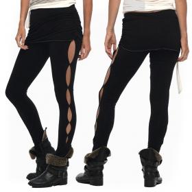 """Leggings long \""""Skirted\"""", Noir"""