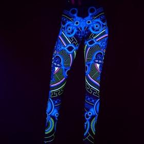 "Leggings UV \""Archaic Trip\"", Noir"