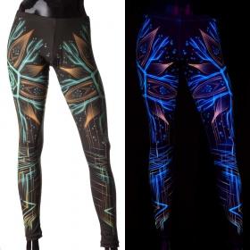 """Leggings UV \""""Multiverse\"""", Noir"""