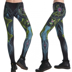 "Leggings UV ""Neuron\"", Noir"