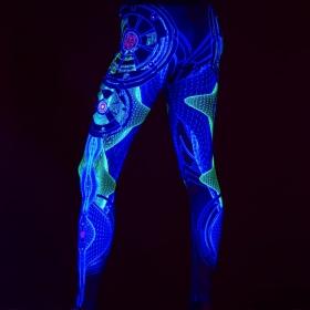 """Leggings UV \""""Neuron\"""", Noir"""