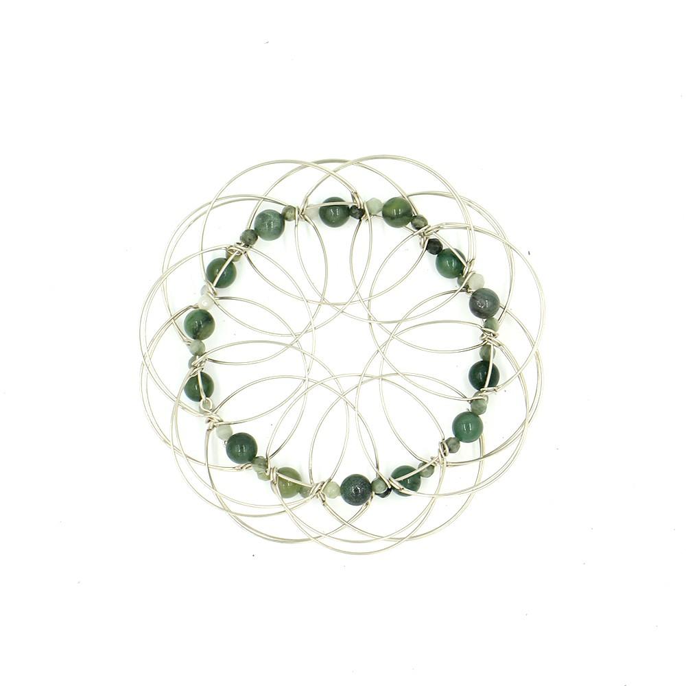 Mandala 3D classique, Pierre de Jade