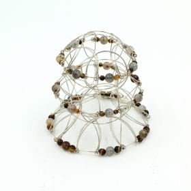 Mandala 3D Pyramide 3, Pierre Oeil de Tigre