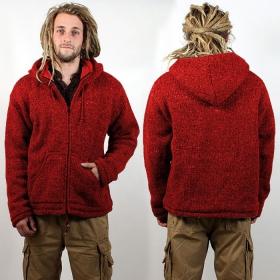 """Manteau \\\""""omkar laine et polaire\\\"""", rouge"""