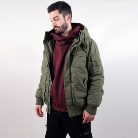 "Manteau surplus \""Bronx\\\"", Kaki"