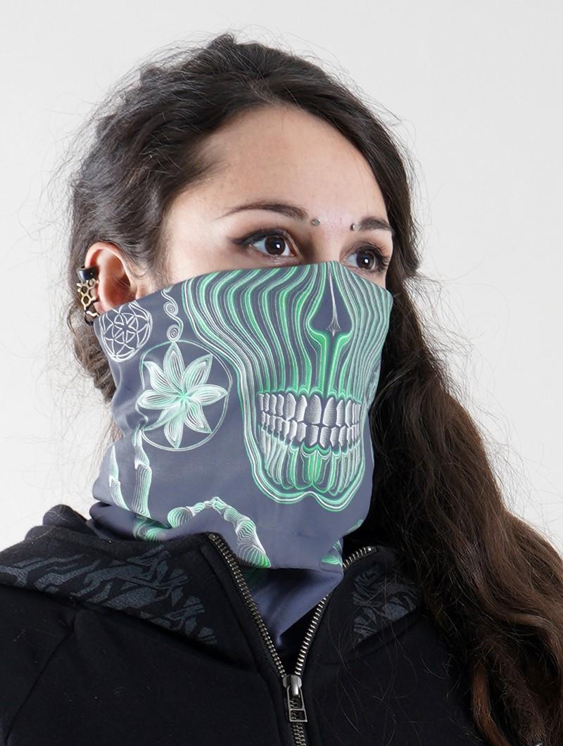 """Masque / tour de cou \""""Gulgalta\"""", Détails phosphorescents"""