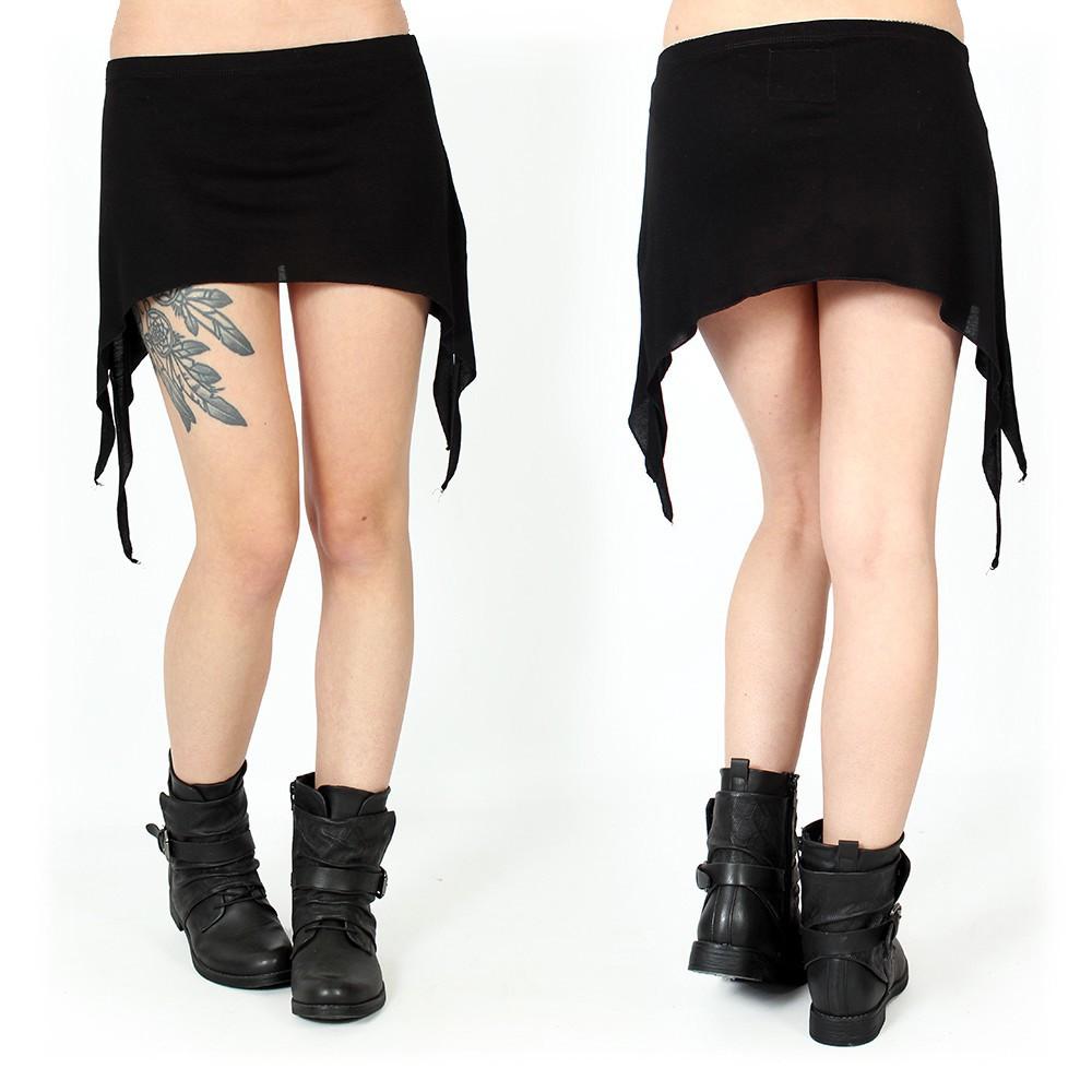 "Mini jupe \""Double Pointed\"", Noir"