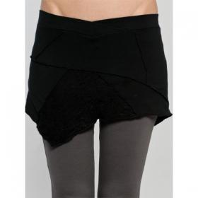 "Mini jupe Luna \""Patchwork\"", Noir"