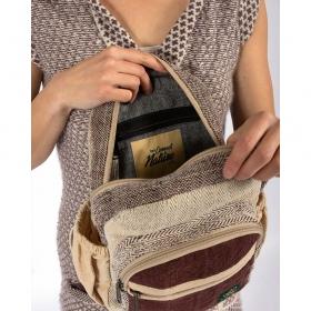 """Mini sac à dos \""""Sunsari\"""", chanvre et coton marron"""