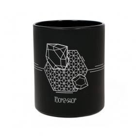 """Mug \""""Cosmos\"""", Noir et argenté"""
