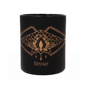 "Mug \""Lotus Spirit\"", Noir et cuivre"