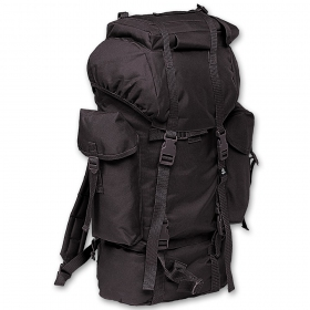 Nylon rucksack noir