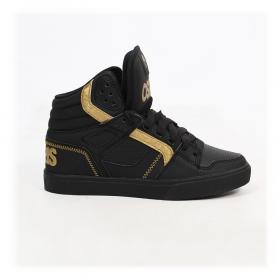 best sneakers b08ad 5ea90 Osiris Clone, Nubuck synthétique noir et détails or