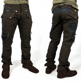 "Pantalon ""Alternative\"", Marron foncé"