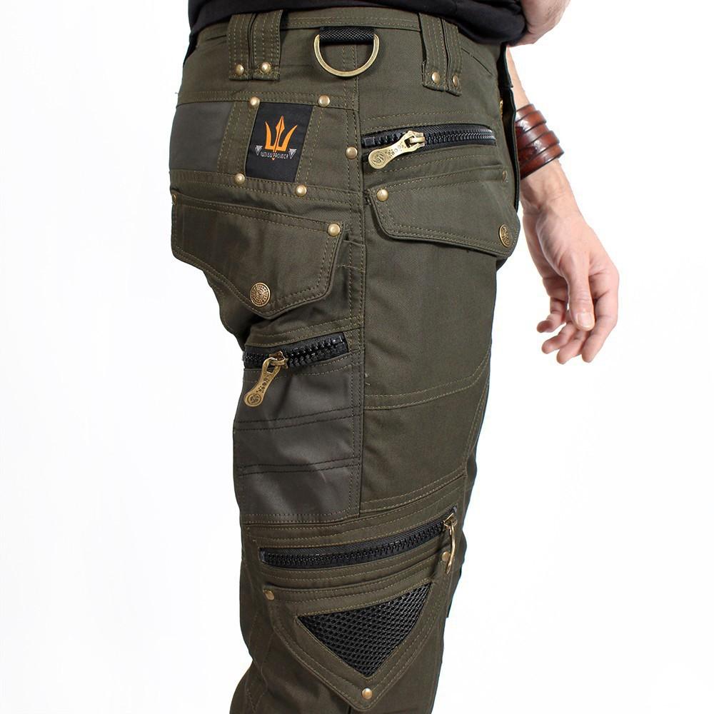 """Pantalon \""""Alternative\"""", Vert kaki foncé"""