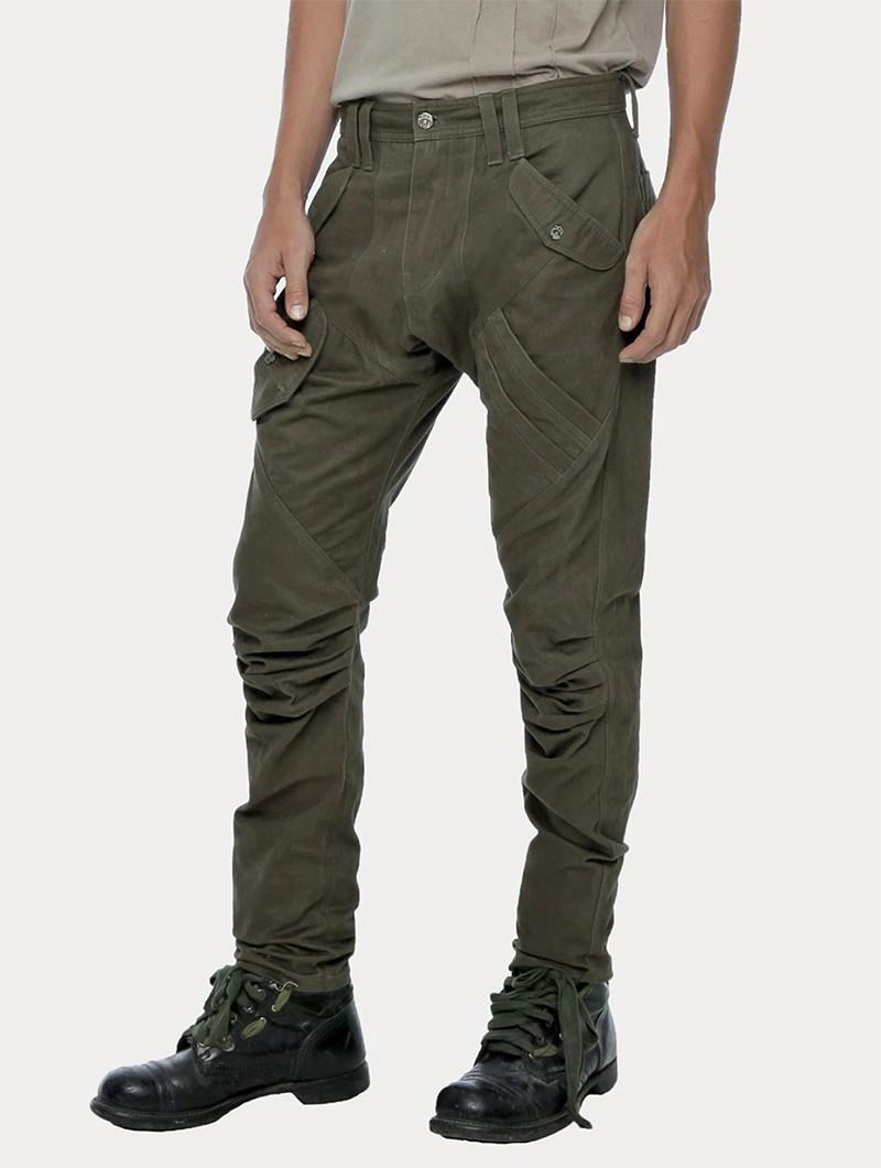 """Pantalon \""""Congo\"""", Vert kaki foncé"""