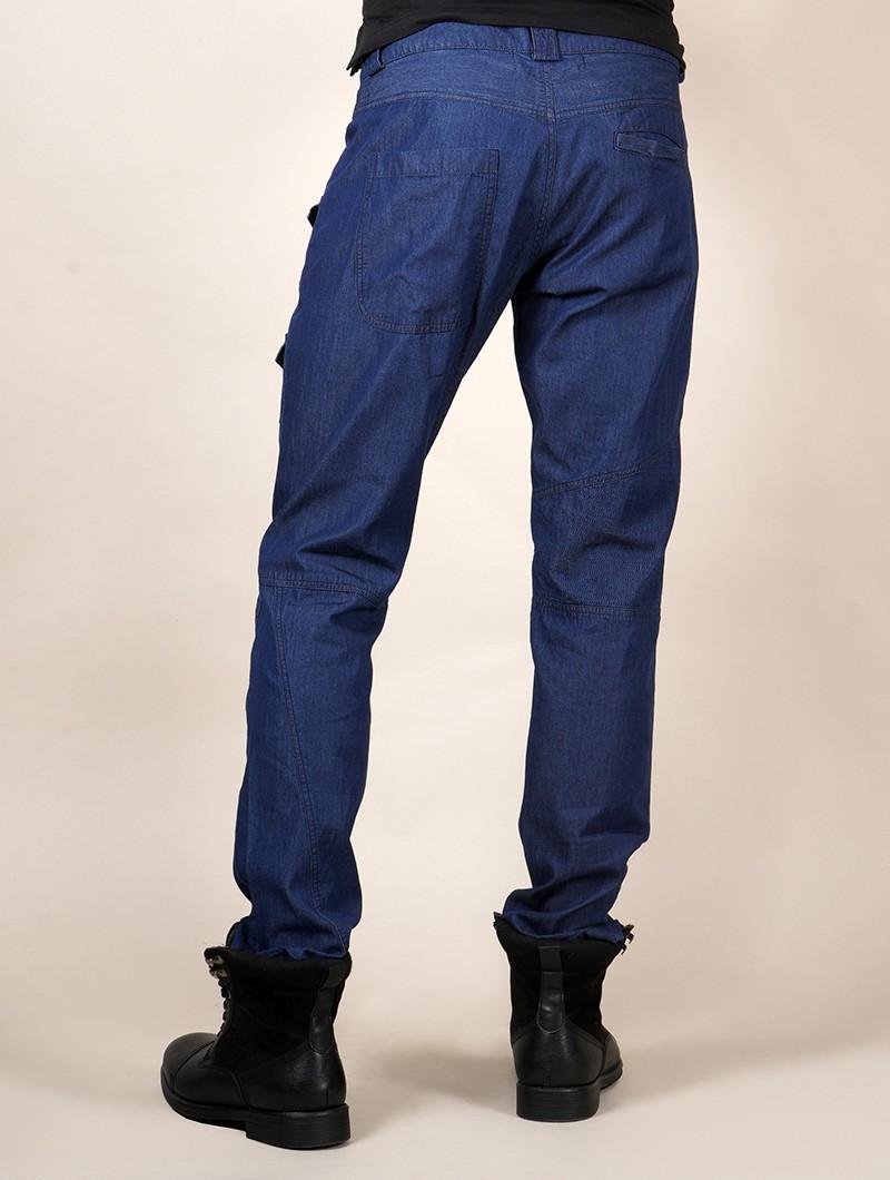 """Pantalon \""""Hades\"""", Toile bleu jean"""