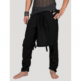 "Pantalon ""Skirted\"", Noir"