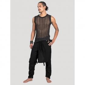 "Pantalon \""Skirted\"", Noir"
