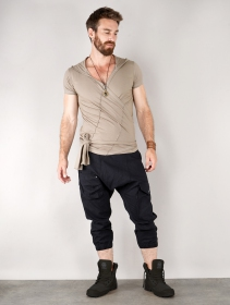 """Pantalon baggy 3/4 \""""Aqua\"""", Noir"""