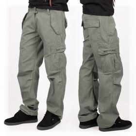 Pantalon baggy Molecule mixte, Kaki
