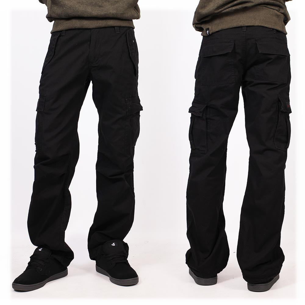 Pantalon baggy Molecule mixte, Noir