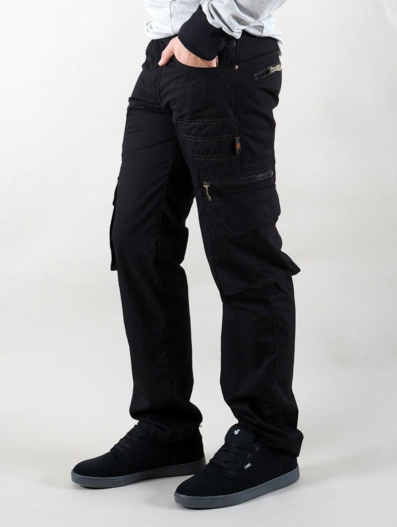 "Pantalon cargo \""Wake\"", Noir"