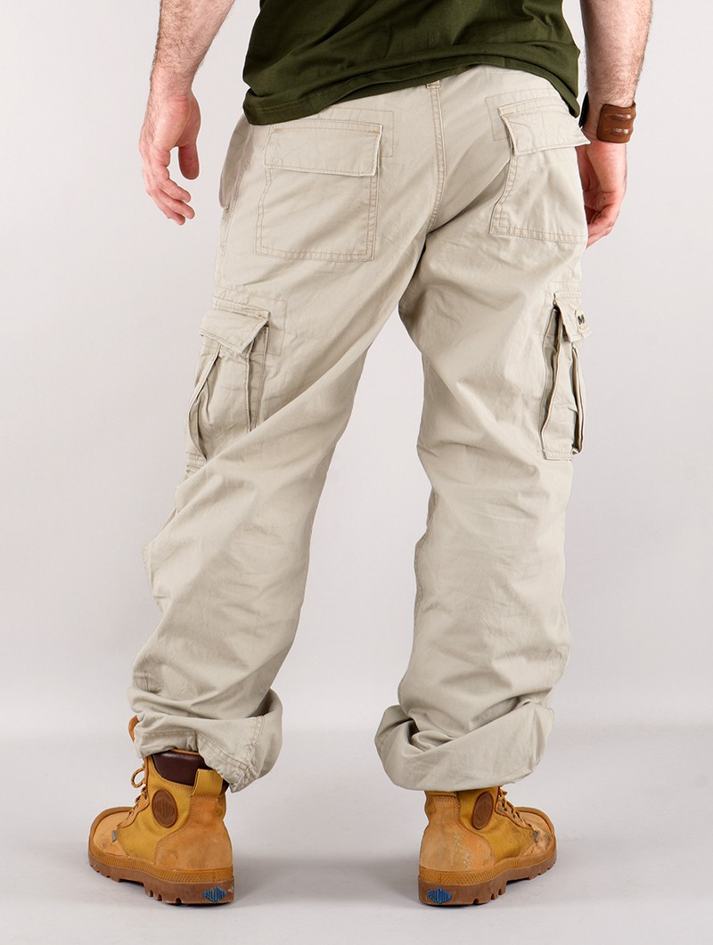 Pantalon cargo baggy unisexe Molecule, Beige