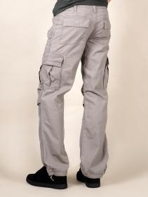 Pantalon cargo baggy unisexe Molecule, Gris
