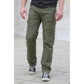"""Pantalon coupe droite \""""Cargo Adven\"""", Kaki"""