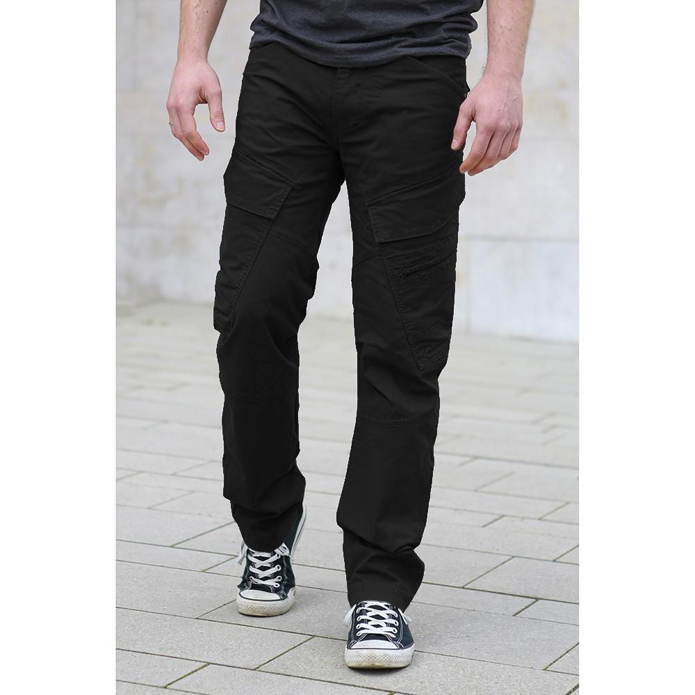 "Pantalon coupe droite \""Cargo Adven\"", Noir"
