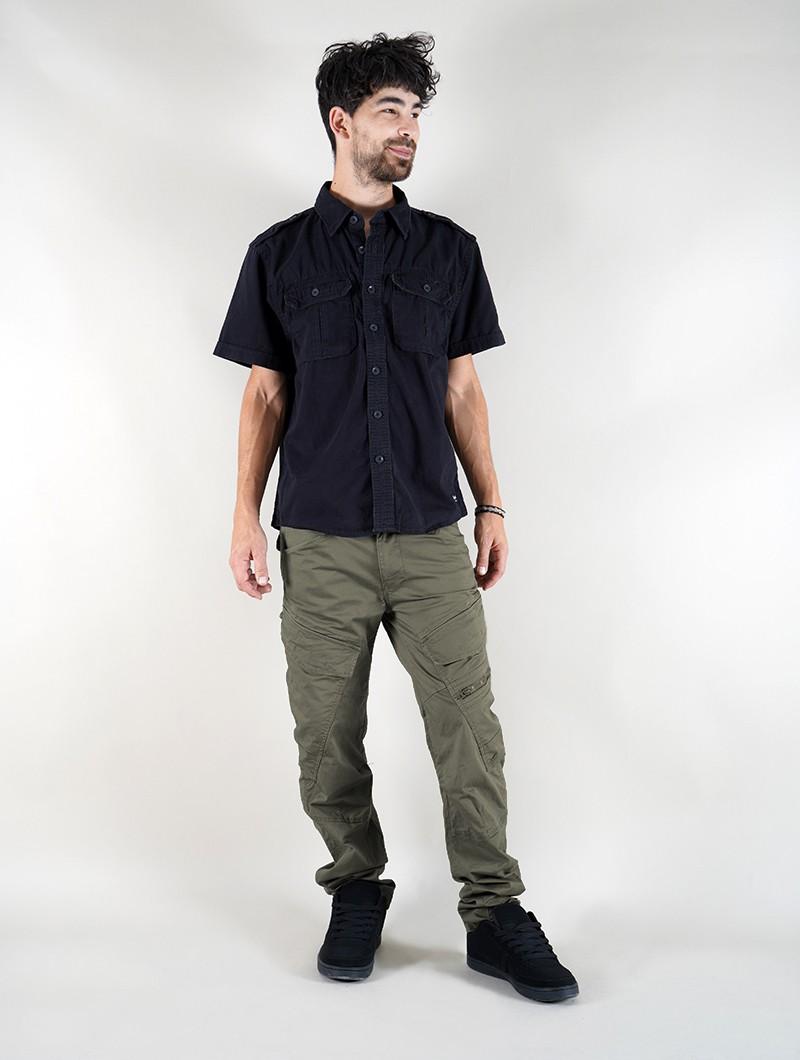 "Pantalon coupe droite \""Cargo Adven\"", Vert kaki"