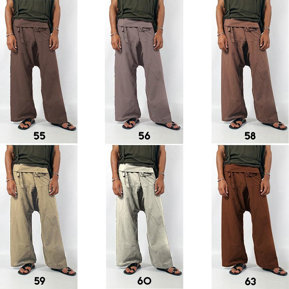 """Pantalon de pêcheur \""""Thaï\"""", Couleurs au choix"""