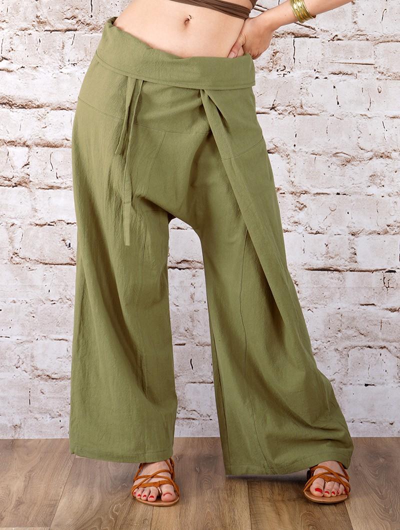 """Pantalon de pêcheur unisexe \""""Thaï\"""", Couleurs au choix"""